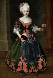 Portrait of a girl with mask.