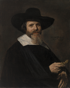 Portrait of a Man Holding a Watch