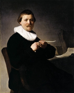 Portrait of a Man Trimming his Quill