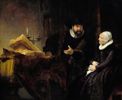 Portrait of Cornelis Claeszoon Anslo and his wife Aaltje Schouten