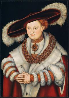 Portrait of Magdalena of Saxony, Wife of Elector Joachim II of Brandenburg