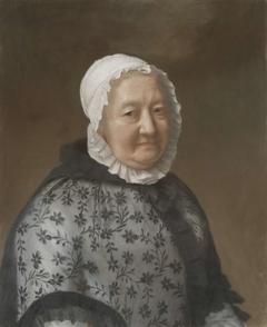 Portret van Marie Congnard-Batailhy, grootmoeder van de vrouw van de kunstenaar, bekend als 'La dame aux dentelles'