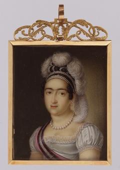 Princess María Francisca de Asis de Borbón and Her Son Infante Carlos Luis María Fernando de Borbón