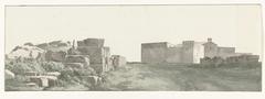 Profiel van de binnenmuren en buitenmuren van de oude stad Manduria
