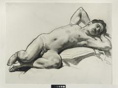 Reclining Male Nude (Nicola D'Inverno)
