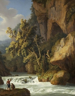 Rocky Landscape with Anglers