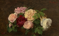 Roses de Nice on a Table