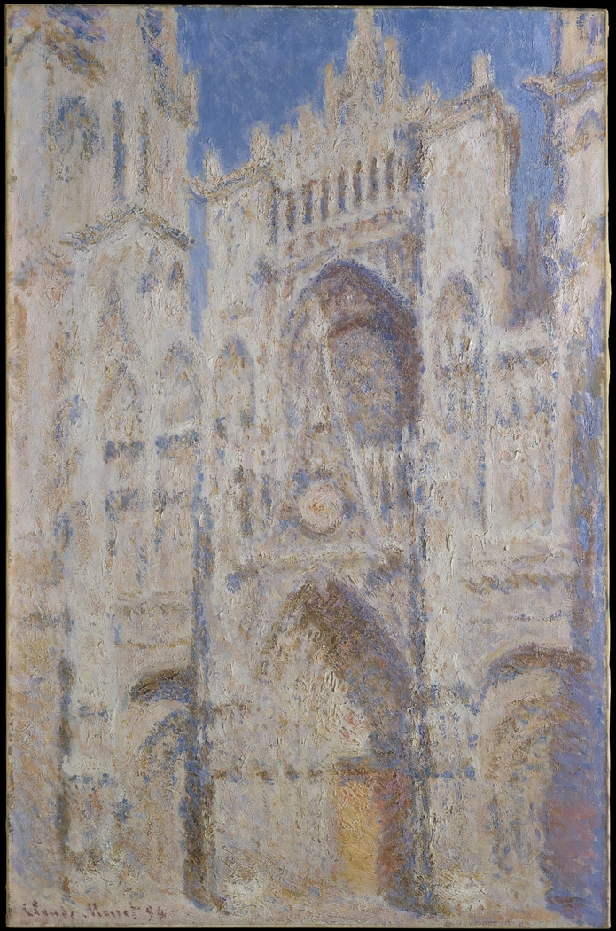 Rouen Cathedral, Portal, Sunlight