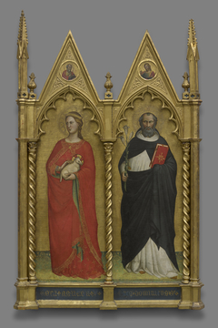 Saints Agnes and Dominic and TwoEvangelist
