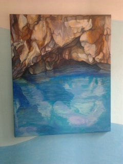 Sea cave as a part of a house room