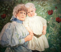 Self-portrait with her son