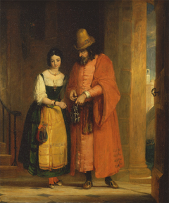 Shylock and Jessica from the 'Merchant of Venice,' II, ii