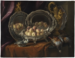 Silver Tureen with Peaches