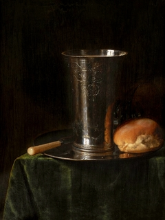 Still-life with a silver beaker