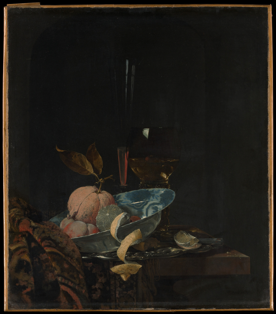 Still Life with Fruit, Glassware, and a Wanli Bowl