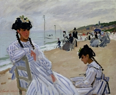 Sur la plage à Trouville