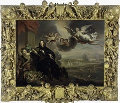 The Apotheosis of Cornelis de Witt, with the Raid on Chatham in the background