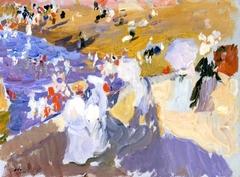 The Beach, Biarritz (Ladies Walking)
