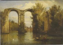 The Château de Maintenon through the Aqueduct