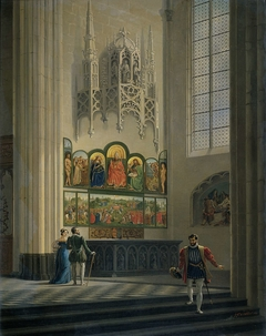 The Ghent Altarpiece by the van Eyck Brothers in St Bavo Cathedral in Ghent