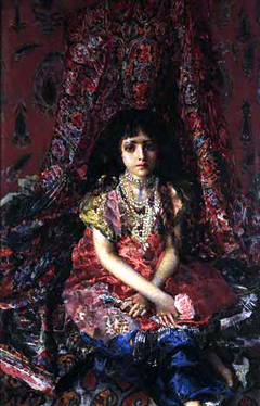 The Girl Against the Background of Persian Carpet