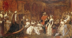 The Marriage of the Princess Victoria Adelaide, Princess Royal (1840-1901) later Empress of Prussia, to Crown Prince Frederick William of Prussia (1831-1888) later Emperor Frederick III, Emperor of G