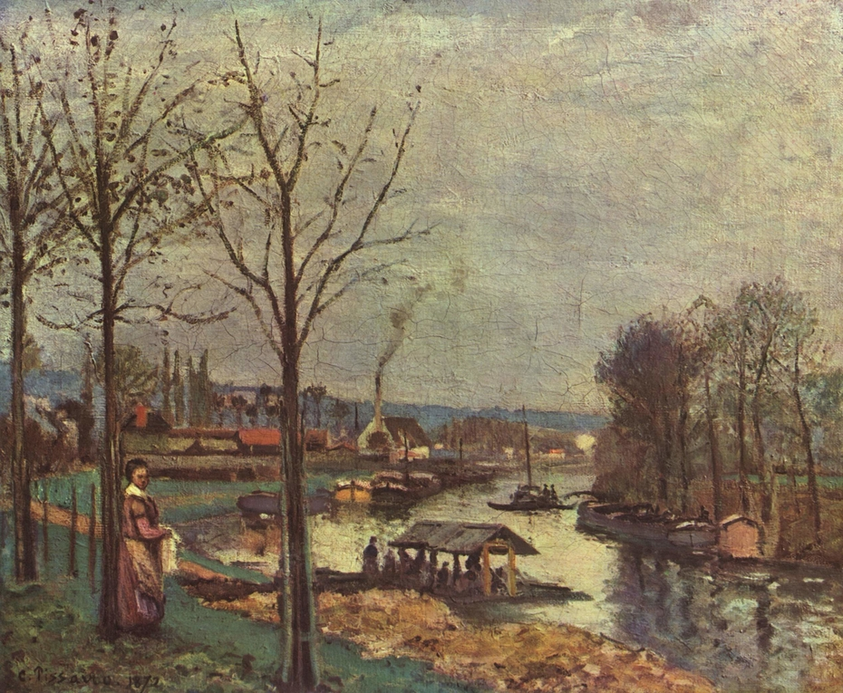 The Seine at Port-Marly, the Wash-House