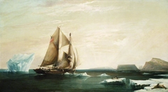 The Yacht 'Isabel' on the First Voyage into Smith Sound