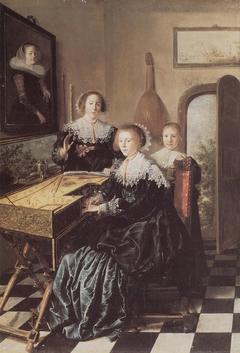 Three Women at a Virginal