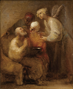 Tobit heals his father's blindness