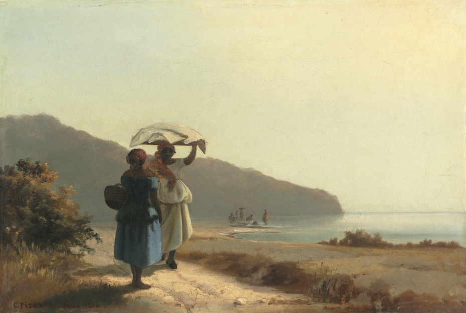 Two Women Chatting by the Sea, St. Thomas