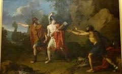 Ulysse et Néoptolème enlèvent à Philoctète l'arc et les flèches d'Héraclès