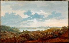 Rügenlandschaft mit Meeresbucht