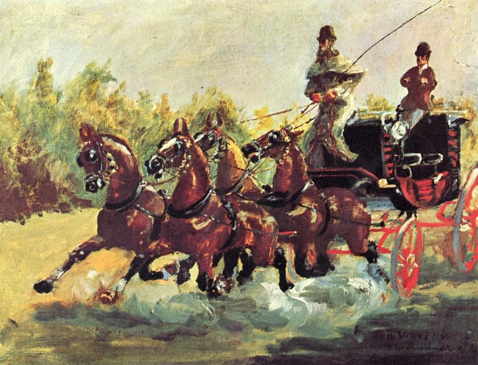 Alphonse de Toulouse-Lautrec-Monfa Driving his Mail-Coach in Nice