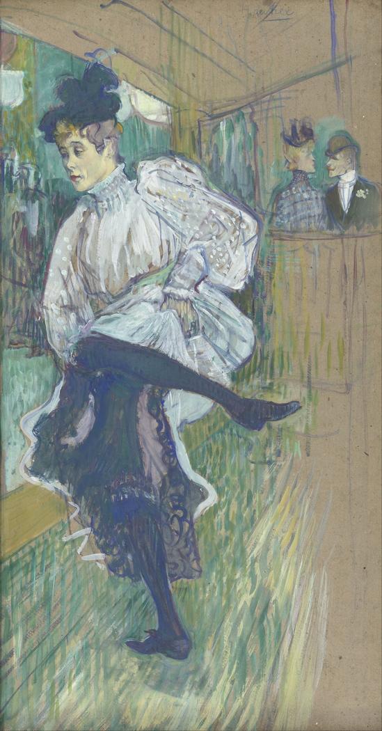 Jane Avril Dancing (Jeanne avril dansant)