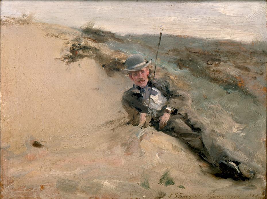 Ralph Curtis on the Beach in Scheveningen
