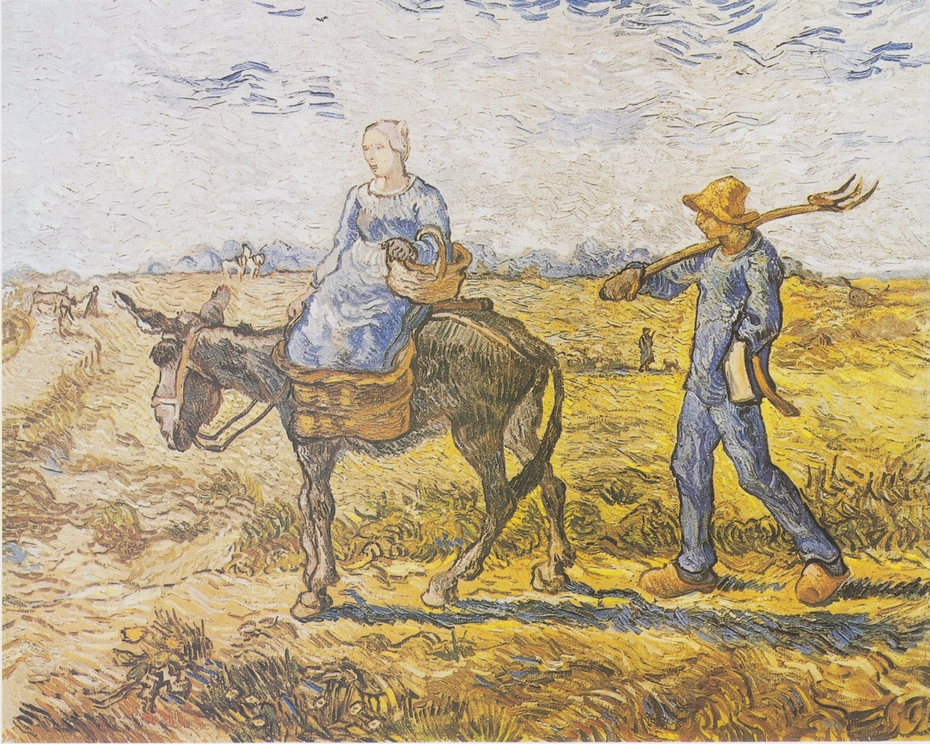 Peasant Couple Going to Work / Morning: Going out to Work