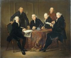 Vier regenten van het Leprozenhuis te Amsterdam, 1773