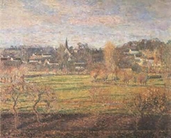 View of Bazincourt, February, Sunrise