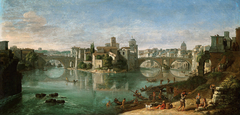 View of Tiber in Rome