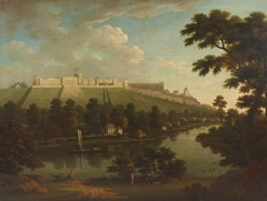 View of Windsor Castle, with the River Thames and Figures in the foreground
