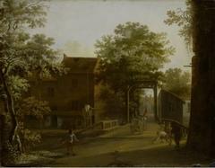 Village Street with Drawbridge