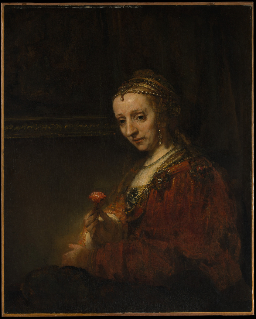 Woman with a Pink