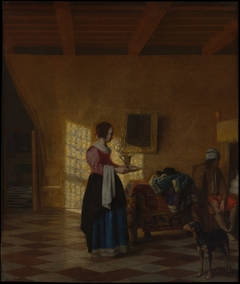"Woman with a Water Pitcher, and a Man by a Bed (""The Maidservant"")"