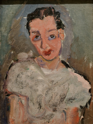 Young Woman in a White Blouse